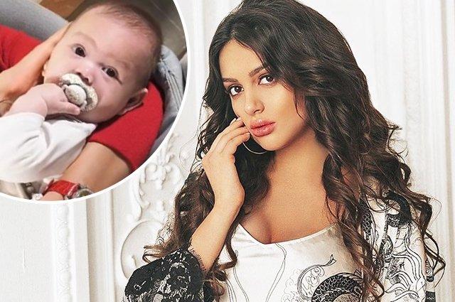Oksana kraldan olan oğlunun üzünü göstərdi -